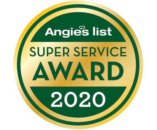 Angies List 2020 Super Service Award Winner Badge